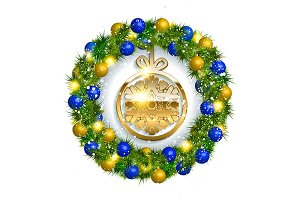 Vector Christmas wreath
