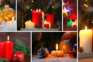 Christmas and New Year collage