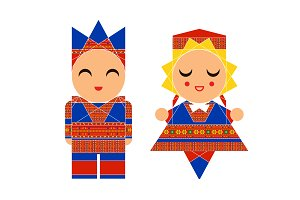 Vector Scandinavian Children Icons