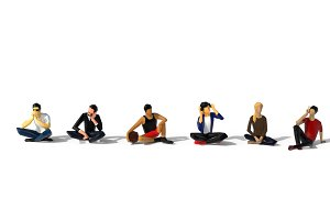 Low Poly People Sit
