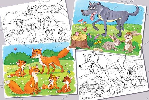 Cute Woodland Animals Bundle Illustrations Creative Market