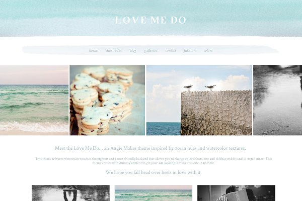 WordPress Photography Themes - Love Me Do - WordPress Theme