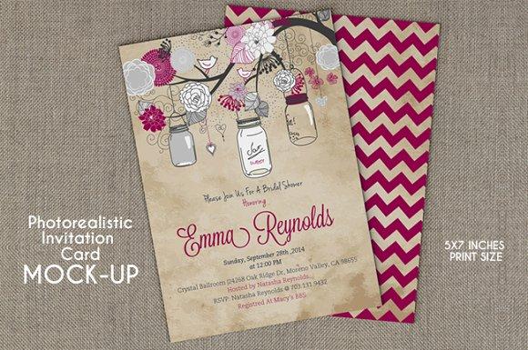 Invitation card mockup product mockups creative market stopboris Images