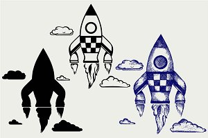 Space ship SVG