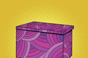 Festive Burgundy gift box