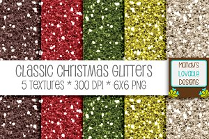 Classic Christmas Glitter Textures
