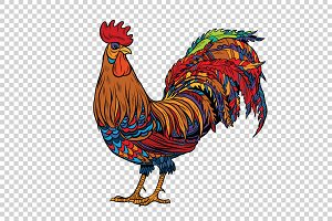 Red rooster, the symbol of 2017