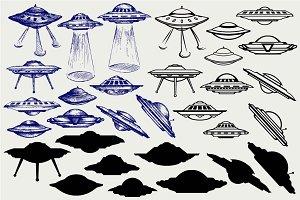UFO flying saucer SVG