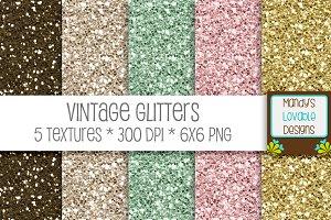 Vintage Glitter Textures
