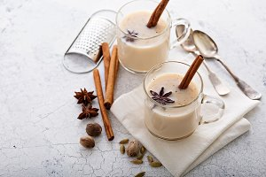 Masala tea with winter spices
