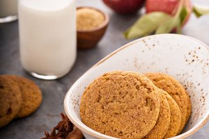 Cinnamon applesauce cookies