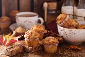 Seasonal cinnamon streusel muffins