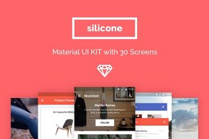 Silicone Material UI KIT