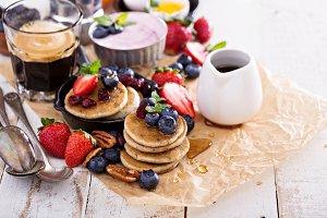 Brigt and colorful breakfast ingredients