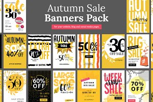 Autumn Sale Banners Pack
