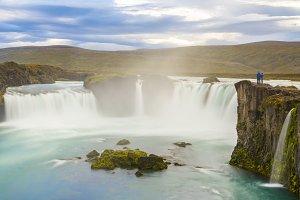 Beautiful Godafoss waterfall