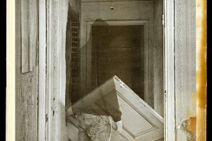 Antique Photo Ghostly Figure