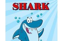 Blue Shark Waving For Greeting