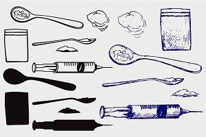 Drug syringe SVG
