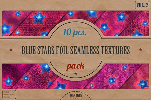 Blue Stars Foil Textures Pack v.2