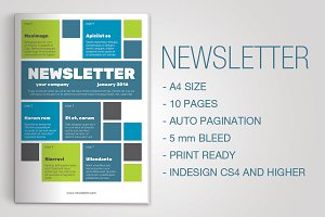 Indesign Newsletter Template 16.1