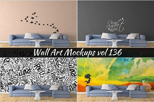 Wall Mockup - Sticker Mockup Vol 136