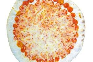 Margherita pizza transparent PNG
