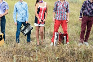Concept photo of music band