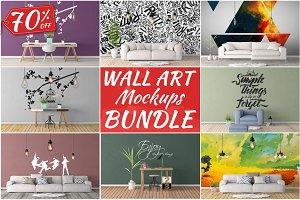 Wall Art Mockups BUNDLE V7