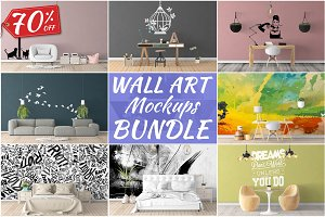 Wall Art Mockups BUNDLE V8