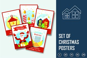Set of  Christmas  Posters