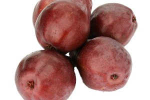 Fresh red pears isolated