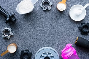 nutritional supplements mockup