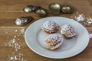 Three sweet Slovakian cookies
