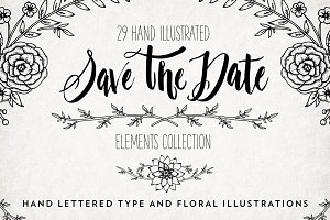 Illustrated Save The Date Overlays