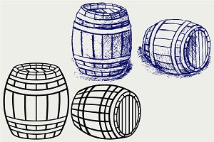 Beer barrels SVG