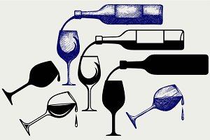 Wine pouring SVG