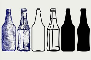 Bottles of beer SVG