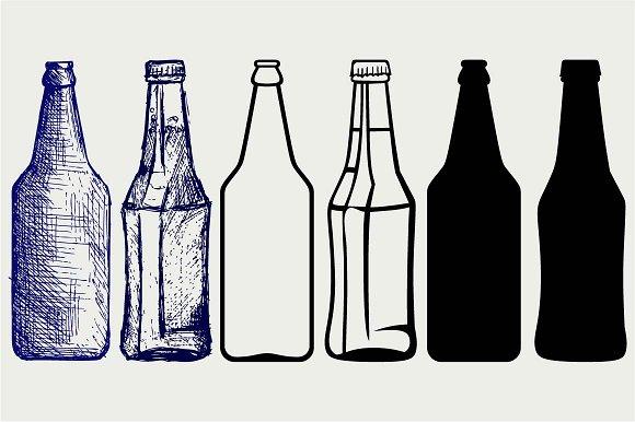 Bottles Of Beer SVG DXF