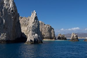 Rocks off the coast of Mexico