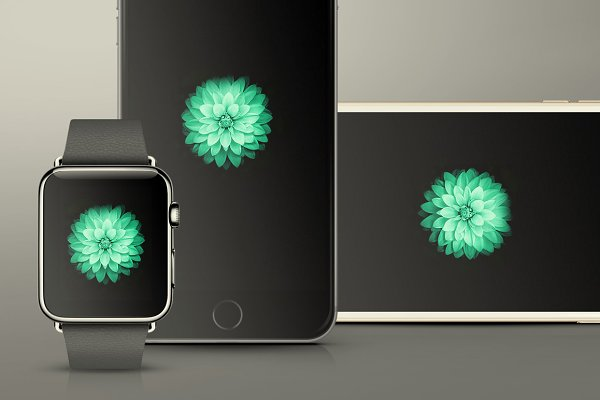 iPhone 6 & iWatch Mockups Pack
