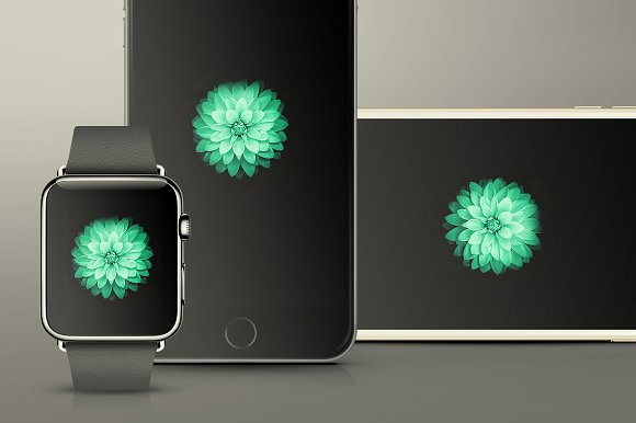 Download iPhone 6 & iWatch Mockups Pack