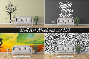 Wall Mockup - Sticker Mockup Vol 137
