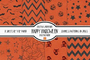Happy Spooky Halloween Digital Paper