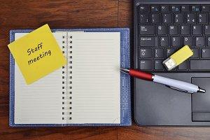 Staff meeting notebook