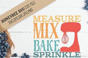 Measure Mix Bake svg