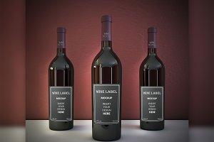 Realistic Wine Mockup