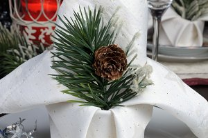 Christmas table setting napkin