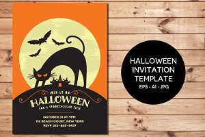 Halloween Invitation EPS & JPG