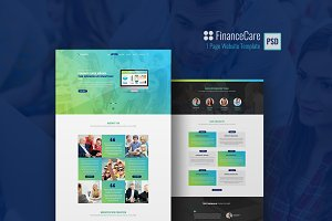 FinanceCare 1 Page PSD template